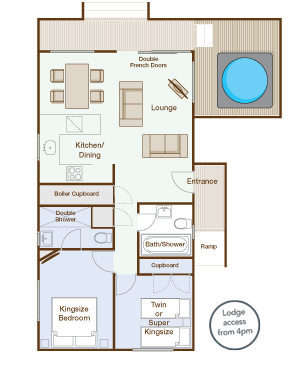 Jay Lodge Floorplan - High Lodge, Suffolk