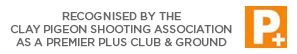 Recognised by the Clay Pigeon Shooting Association as a Premier Plus Club & Ground