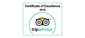 2018 certificate of excellence Trip Adviser award winner