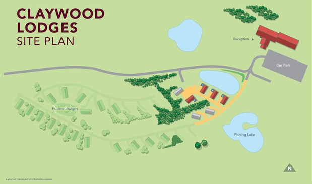 Claywood Luxury Holiday Lodges siteplan